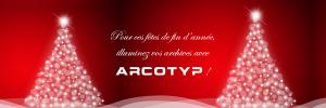 Pour ces fêtes de fin d'année, illuminez vos archives avec ARCOTYP ! Joyeuses Fêtes par AT2O