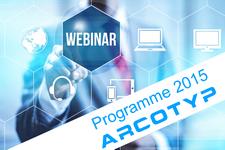 Programme webinars 2015 ARCOTYP