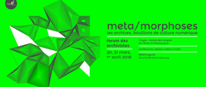 Forum des Archivistes 2016 - Format [1046*498]