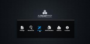 Ecran ARCOTYP Software - logiciel d'archivage mixte (papier et numérique)