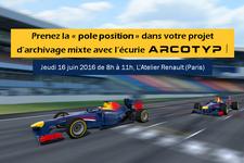 Matinale AT2O : Prenez la pole position dans votre projet d'archivage mixte avec l'écurie ARCOTYP !
